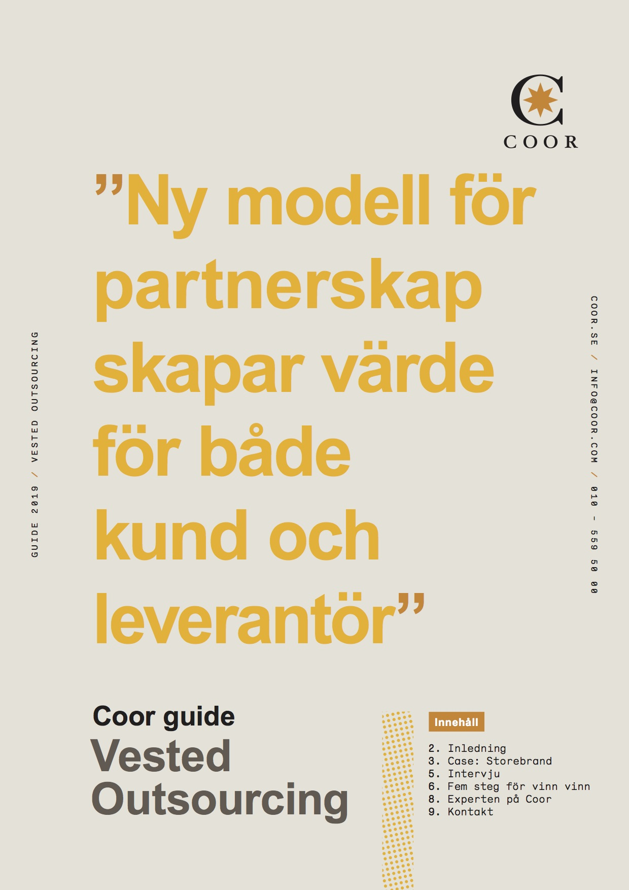 Coors guide för Vested Outsourcing | Partnerskapsmodell | Coor
